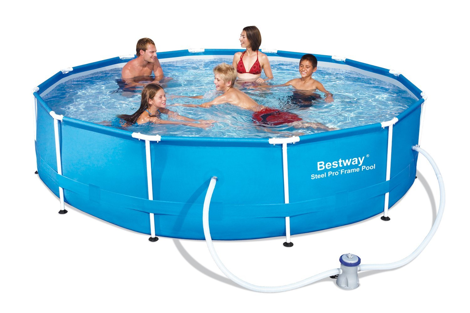Bestway piscine ronde steel frame le test de la r daction for Bestway piscine