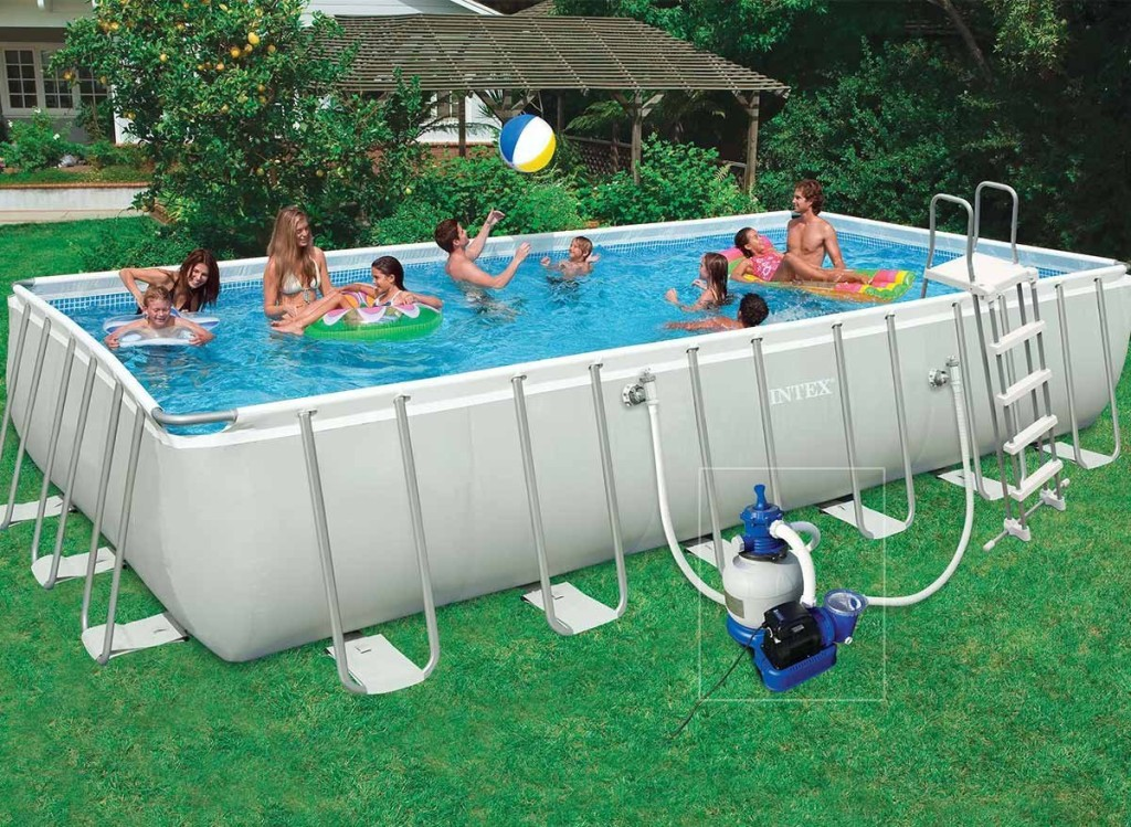 Piscine hors sol tubulaire intex ultra silver for Piscine intex