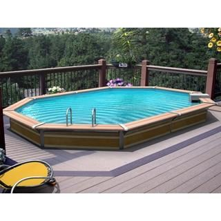 Jolie piscine ronde enterr e de r ve for Piscine miroir definition